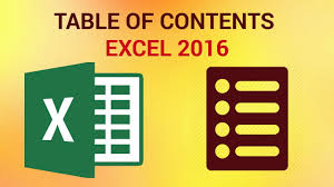 how to create a table in excel 2016 how to create a table of contents in excel 2016 youtube