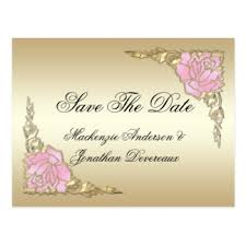 Postcard Save The Dates Custom Rose Gold Save The Date Postcards Zazzle Co Uk