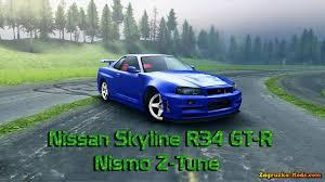 nissan skyline nismo z tune nissan r34 nismo skyline gt r z tune v1 0 for spin tires 2014