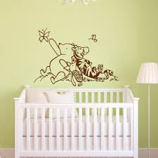 kids wall decal etsy winnie the pooh wall decals nursery classic piglet tigger decal kids