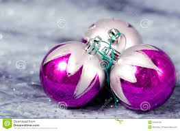 decorations purple and silver royalty free stock photos