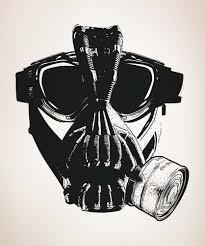 vinyl wall decal sticker villain gas mask 5333