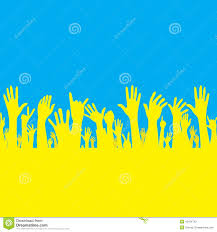 Ukraine Flag Vector Hand With Ukraine Flag Stock Vector Illustration 42424743