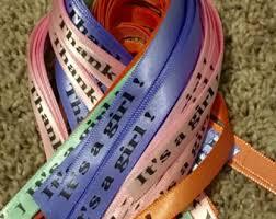 printed ribbons for favors custom ribbon etsy