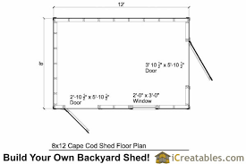 shed floor plan 8x12 cape cod shed plans storage shed plans icreatables