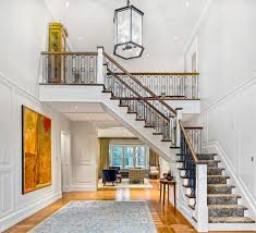 Stairs With Open Risers by Double Foyer Entry Modern With Open Riser Stairs Black And White