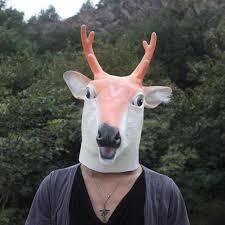 Goat Halloween Costume Yiwu Caddy Whmj 015 Creepy Deer Mask Head Halloween Costume