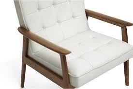 baxton studio stratham white mid century modern club chair