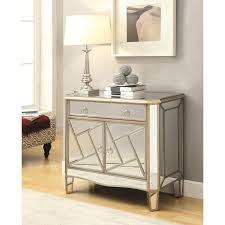 accent cabinets geometrical mirrored accent cabinet