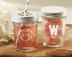 rustic wedding favors personalized rustic wedding printed glass jar set of 12