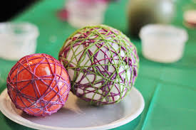 yarn easter egg craft make string easter eggs