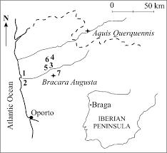 Iberian Peninsula Map Raw Material Sources For The Roman Bracarense Ceramics Nw Iberian