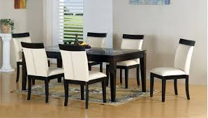 Dining Room Table And Chair Set Dining Room Table Sets Leather Chairs Formidable Glass Top Sets