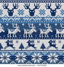 seamless pattern ornaments jacquard knitting stock