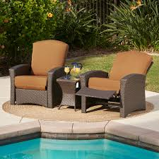 santa fe 3pc recliner set canvas teak mission furniture