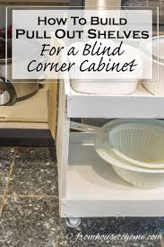 corner cabinet pull out shelf how to build pull out shelves for a blind corner cabinet part 2
