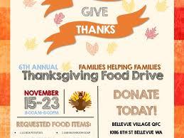 thanksgiving food drive bellevue bellevue wa patch