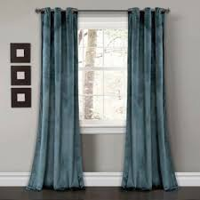 Turquoise Velvet Curtains Buy Blue Velvet Curtains From Bed Bath U0026 Beyond