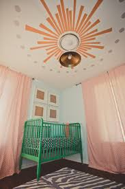 Pink And White Nursery Curtains by Bedroom Interesting Nursery Design With Cozy Jenny Lind Crib