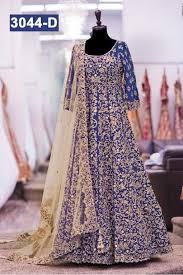anarkali wedding dress inspired wedding wear blue anarkali suit 3044 d