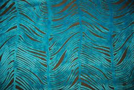 peacock turquoise peacock plume luxurious cut velvet turquoise blue heavy velvet