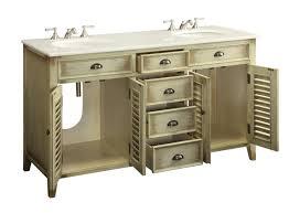 60 inch cottage double sink bathroom vanity cabinet