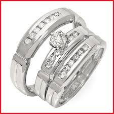 trio wedding sets rings kmart bridal sets his and hers matching wedding rings