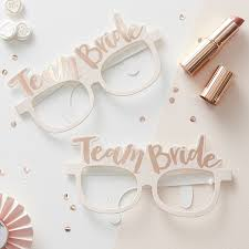 ginger ray hen party rose gold team bride photo booth props