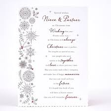 wedding wishes to niece christmas card special wishes niece partner card factory