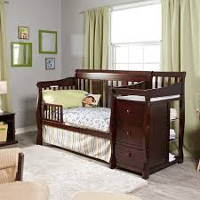 Convertible Changing Table Dresser Crib Changing Table Dresser Combo Magnificent Design Brown