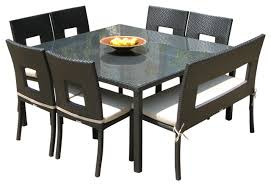 impressive square outdoor dining table for 8 dining room the