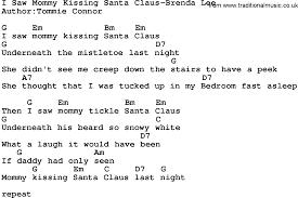 country music i saw mommy kissing santa claus brenda lee lyrics