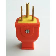 shop project source 15 amp 125 volt orange 3 wire grounding plug