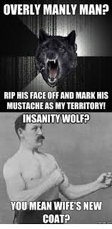 Meme Overly Manly Man - overly manly man rip his face off and mark his mustache as my