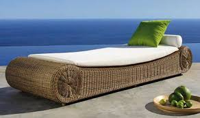 Furniture Comfortable Rattan Patio Furniture Brown Finish Wicker - Round outdoor sofa 2