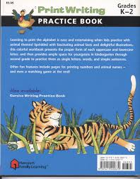 print writing practice book flash kids harcourt family learning