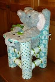 Diaper Centerpiece For Baby Shower by Diaper High Chair Boy Elephant Www Etsy Com Shop