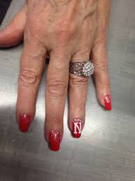 nebraska nails design nails arts pinterest football nail art