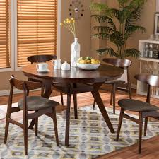 Round Decorator Table by Home Decorators Collection Aldridge Antique Walnut Dining Table