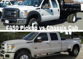 f450 pickup vs f450 f550 chassis cab what are the differences