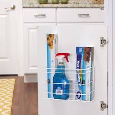 kitchen cabinet door storage racks kitchen foil and wrap cabinet door organizer