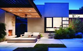 modern house architecture idea with exterior living area architect