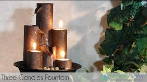 three candles tabletop fountain by serenity health wct202 youtube
