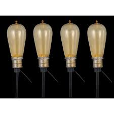 Flickering Light Bulbs Halloween Home Accents Holiday 8 Light Old Fashioned Bulb String Lights With