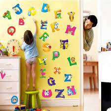 Animal Wall Decals For Nursery A Z Alphabet Animals Wall Decals For Your Nursery Or Child S