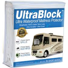 ultrablock cotton waterproof mattress protector rv short queen