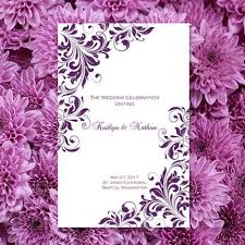 print your own wedding programs wedding program template purple kaitlyn order any color make