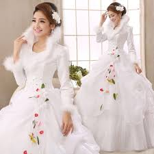 aliexpress com buy white organza long sleeves cheap wedding