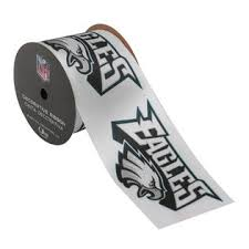 offray ribbon outlet offray ribbon philadelphia eagles nfl 2 1 2 inches x 9