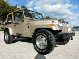tan jeep wrangler 2 door jeep wrangler yj sahara edition for sale in miami beach florida